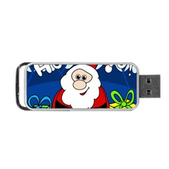 Santa Claus  Portable Usb Flash (one Side) by Valentinaart