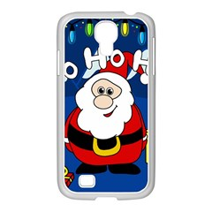 Santa Claus  Samsung Galaxy S4 I9500/ I9505 Case (white) by Valentinaart