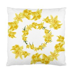 Daffodils Illustration  Standard Cushion Case (two Sides) by vanessagf