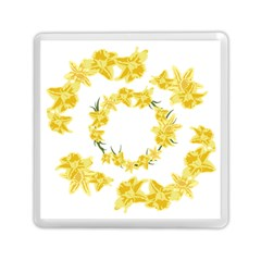 Daffodils Illustration  Memory Card Reader (square)  by vanessagf