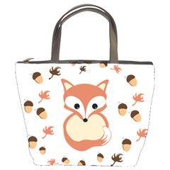 Fox In Autumn Bucket Bags by vanessagf