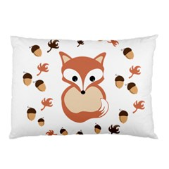 Fox In Autumn Pillow Case (two Sides) by vanessagf