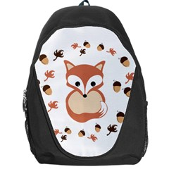 Fox In Autumn Backpack Bag by vanessagf