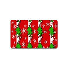 Christmas Tree Pattern   Red Magnet (name Card) by Valentinaart