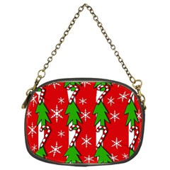 Christmas Tree Pattern   Red Chain Purses (two Sides)  by Valentinaart