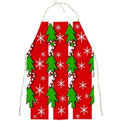 Christmas Tree Pattern   Red Full Print Aprons by Valentinaart