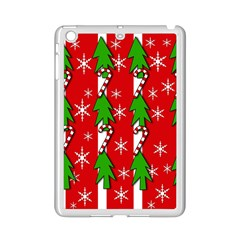 Christmas Tree Pattern   Red Ipad Mini 2 Enamel Coated Cases by Valentinaart