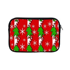 Christmas Tree Pattern   Red Apple Ipad Mini Zipper Cases by Valentinaart