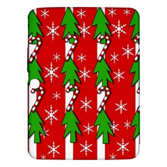 Christmas Tree Pattern   Red Samsung Galaxy Tab 3 (10 1 ) P5200 Hardshell Case  by Valentinaart