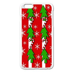 Christmas Tree Pattern   Red Apple Iphone 6 Plus/6s Plus Enamel White Case