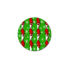 Christmas Pattern   Green Golf Ball Marker by Valentinaart