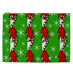 Christmas Pattern   Green Cosmetic Bag (xxl)  by Valentinaart
