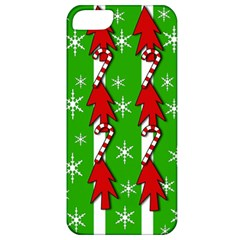 Christmas Pattern   Green Apple Iphone 5 Classic Hardshell Case by Valentinaart