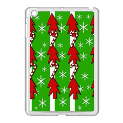 Christmas Pattern   Green Apple Ipad Mini Case (white) by Valentinaart