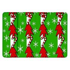 Christmas Pattern   Green Samsung Galaxy Tab 8 9  P7300 Flip Case by Valentinaart
