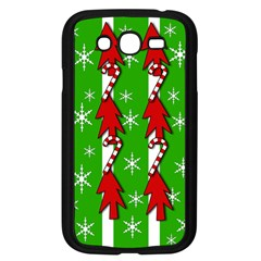 Christmas Pattern   Green Samsung Galaxy Grand Duos I9082 Case (black) by Valentinaart