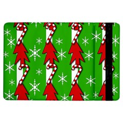 Christmas Pattern   Green Ipad Air Flip by Valentinaart