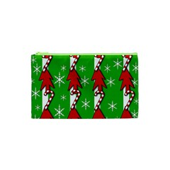 Christmas Pattern   Green Cosmetic Bag (xs) by Valentinaart