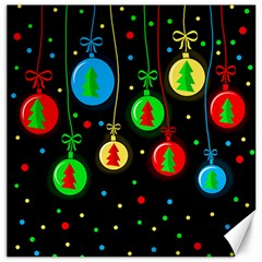 Christmas Balls Canvas 16  X 16   by Valentinaart