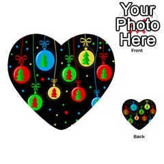 Christmas Balls Multi Purpose Cards (heart)  by Valentinaart