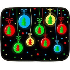 Christmas Balls Fleece Blanket (mini) by Valentinaart