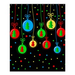 Christmas Balls Shower Curtain 60  X 72  (medium)  by Valentinaart