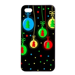 Christmas Balls Apple Iphone 4/4s Seamless Case (black) by Valentinaart