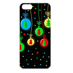 Christmas Balls Apple Iphone 5 Seamless Case (white) by Valentinaart