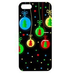 Christmas Balls Apple Iphone 5 Hardshell Case With Stand by Valentinaart