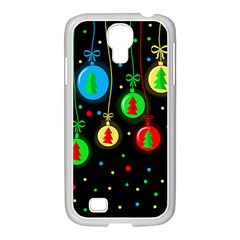 Christmas Balls Samsung Galaxy S4 I9500/ I9505 Case (white) by Valentinaart