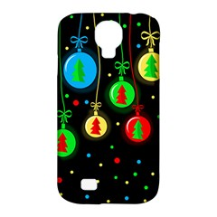 Christmas Balls Samsung Galaxy S4 Classic Hardshell Case (pc+silicone) by Valentinaart