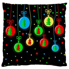 Christmas Balls Standard Flano Cushion Case (one Side) by Valentinaart
