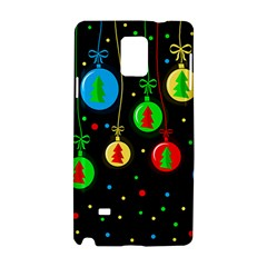 Christmas Balls Samsung Galaxy Note 4 Hardshell Case by Valentinaart