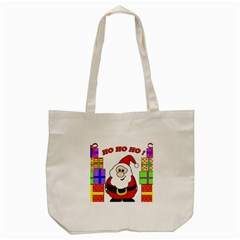 Santa Claus Pattern   Transparent Tote Bag (cream) by Valentinaart