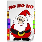 Santa Claus pattern - transparent Canvas 24  x 36  36 x24 Canvas - 1
