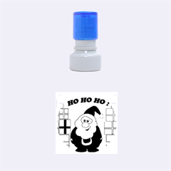 Santa Claus Pattern   Transparent Rubber Round Stamps (small)