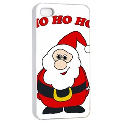 Santa Claus Pattern   Transparent Apple Iphone 4/4s Seamless Case (white) by Valentinaart