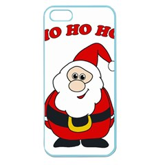 Santa Claus Pattern   Transparent Apple Seamless Iphone 5 Case (color) by Valentinaart