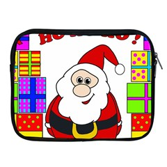 Santa Claus Pattern   Transparent Apple Ipad 2/3/4 Zipper Cases by Valentinaart
