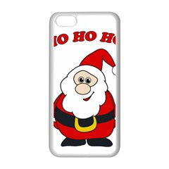 Santa Claus Pattern   Transparent Apple Iphone 5c Seamless Case (white) by Valentinaart