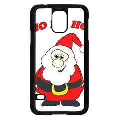 Santa Claus Pattern   Transparent Samsung Galaxy S5 Case (black) by Valentinaart