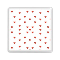 Cute Hearts Motif Pattern Memory Card Reader (square)  by dflcprints