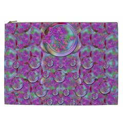 Paradise Of Wonderful Flowers In Eden Cosmetic Bag (xxl)