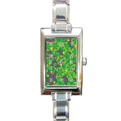 Christmas Decor   Green Rectangle Italian Charm Watch by Valentinaart