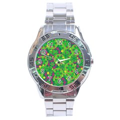 Christmas Decor   Green Stainless Steel Analogue Watch by Valentinaart