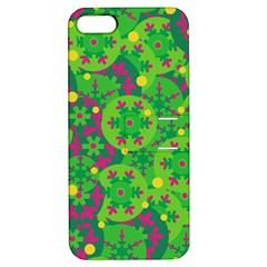 Christmas Decor   Green Apple Iphone 5 Hardshell Case With Stand by Valentinaart