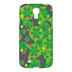 Christmas Decor   Green Samsung Galaxy S4 I9500/i9505 Hardshell Case by Valentinaart