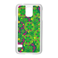 Christmas Decor   Green Samsung Galaxy S5 Case (white) by Valentinaart