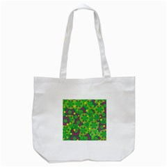 Christmas Decor   Green Tote Bag (white) by Valentinaart