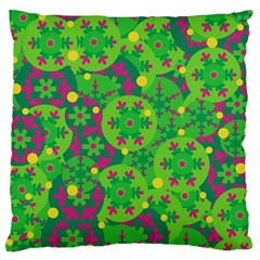 Christmas Decor - Green Standard Flano Cushion Case (one Side) by Valentinaart